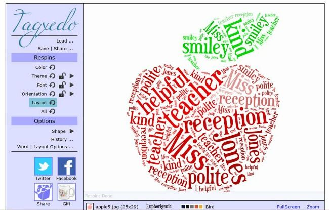 how to create a wordle in a shape