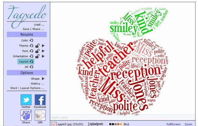 Using tagxedo to make a 'Thank You Teacher' card 6
