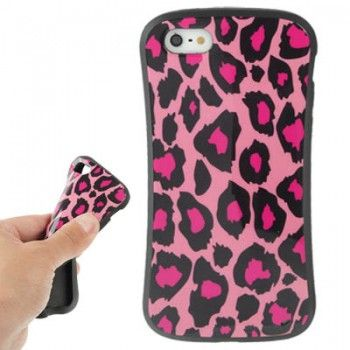 iPhone 5/5S Cases : iFace Leopard Pattern TPU Case for iPhone 5 & 5s