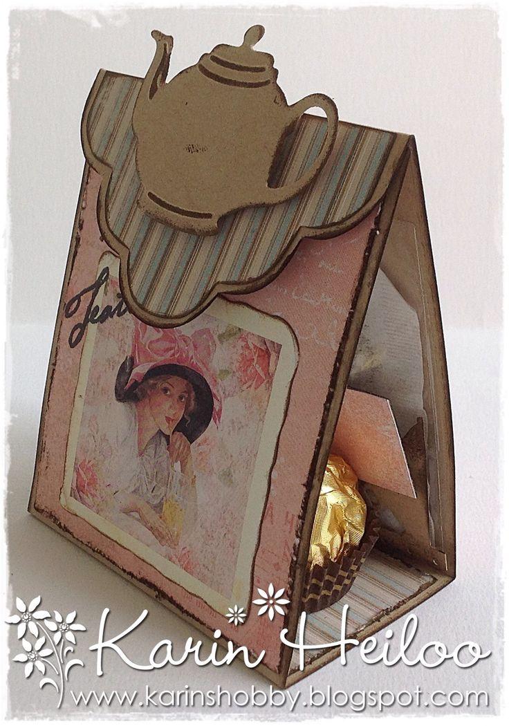 Theemapjes gemaakt :)) Nieuwsgierig Hoe.......Hoeveel en voor wie? Op mijn blog wordt alles duidelijk :)) www.karinshobby.blogspot.com Fijne dag !! XX