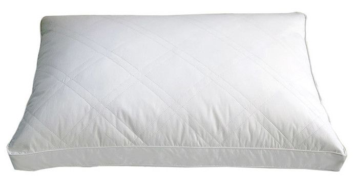 Double Quilted Goose Feather Pillow