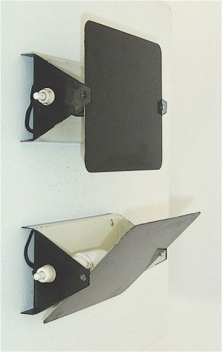 Charlotte Perriand; #CP-1 Painted Metal Wall Lights, 1960.