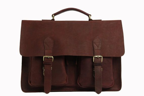 Hotsale Crazy Horse Leather Briefcase Messenger by sunmarkstudio $142