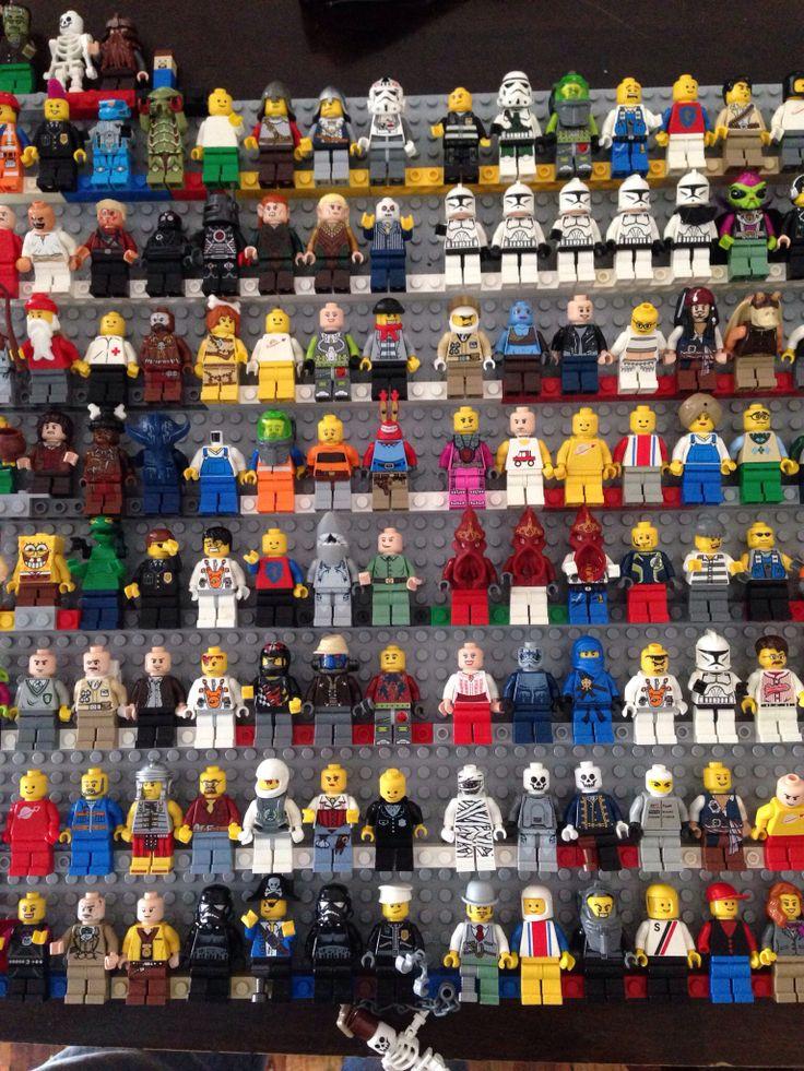 Lego minifigs storage and wall art.