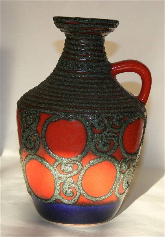 Stunning Fat Lava vase by VEB Strehla by morethanfatlava on Etsy, $35.00