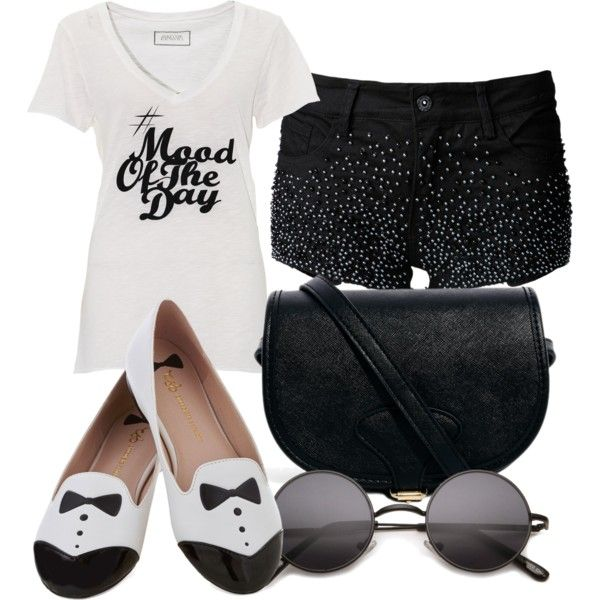 """black n white style"" by sundawi on Polyvore"