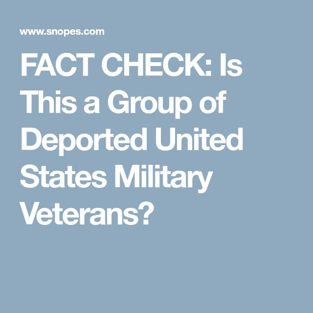 """YES - US Military Veterans were DEPORTED. You read that right, MILITARY VETERANS DEPORTED. Question: How can an """"illegal"""" alien even get into the military? Are they promised citizenship? Why the F*** aren't they citizens AFTER they served!?"""