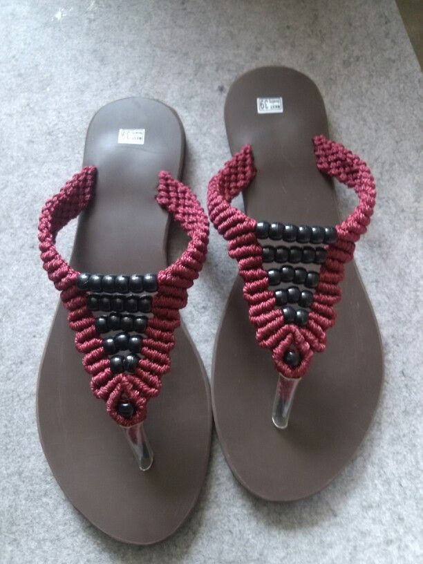 Macrame slippers for ladies