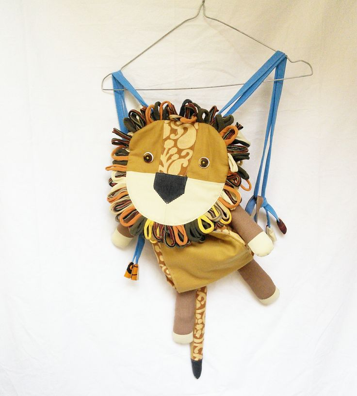 zainetto leone - lion backpack - https://www.etsy.com/it/shop/LaGagiandra