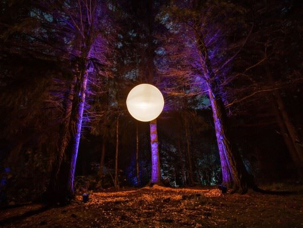 The Enchanted Forest in Pitlochry, Scotland.