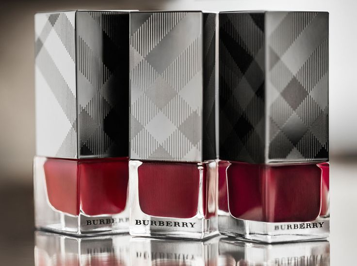 Bold red shades from Burberry Nails for Autumn/Winter