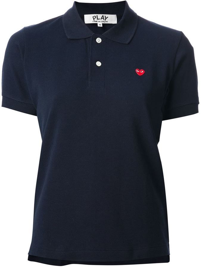 Comme Des Garçons Play embroidered heart polo shirt