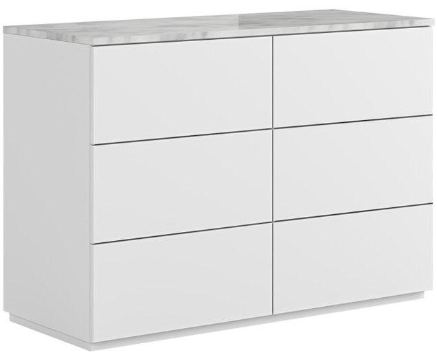Schubladenkommode Join Mit Weiss Grauer Marmorplatte Marmorplatte