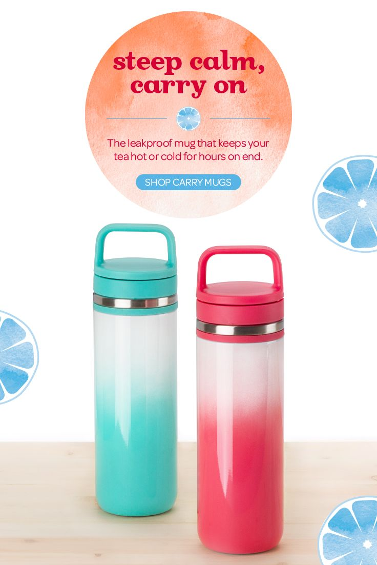 Love taking your favourite tea on the go? Check out the latest limited edition colours of our leakproof Carry Travel Mug.