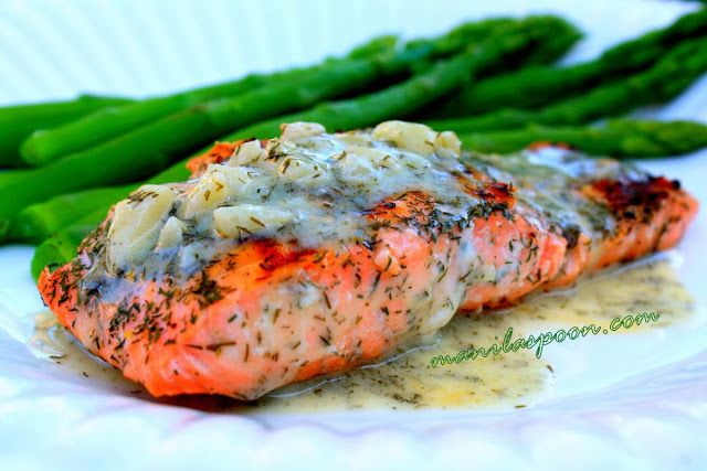 Is it Fish Friday for you? How about this truly yummy and totally healthy GRILLED SALMON WITH LEMONY DILL BUTTER SAUCE!