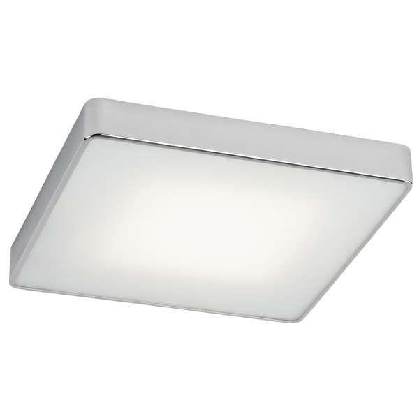 Plafon LAMPA sufitowa ALBA LED 15W 30291103 Kaspa minimalistyczna OPRAWA metalowa kwadratowa chrom