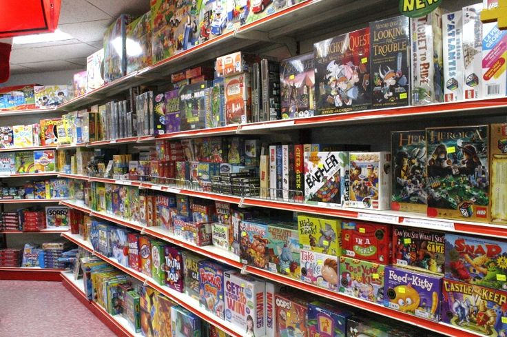 Games Section - Toy shop for Henry