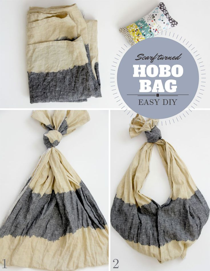 10 Things To Do With a Scarf - #3, Scarf Turned Hobo Bag