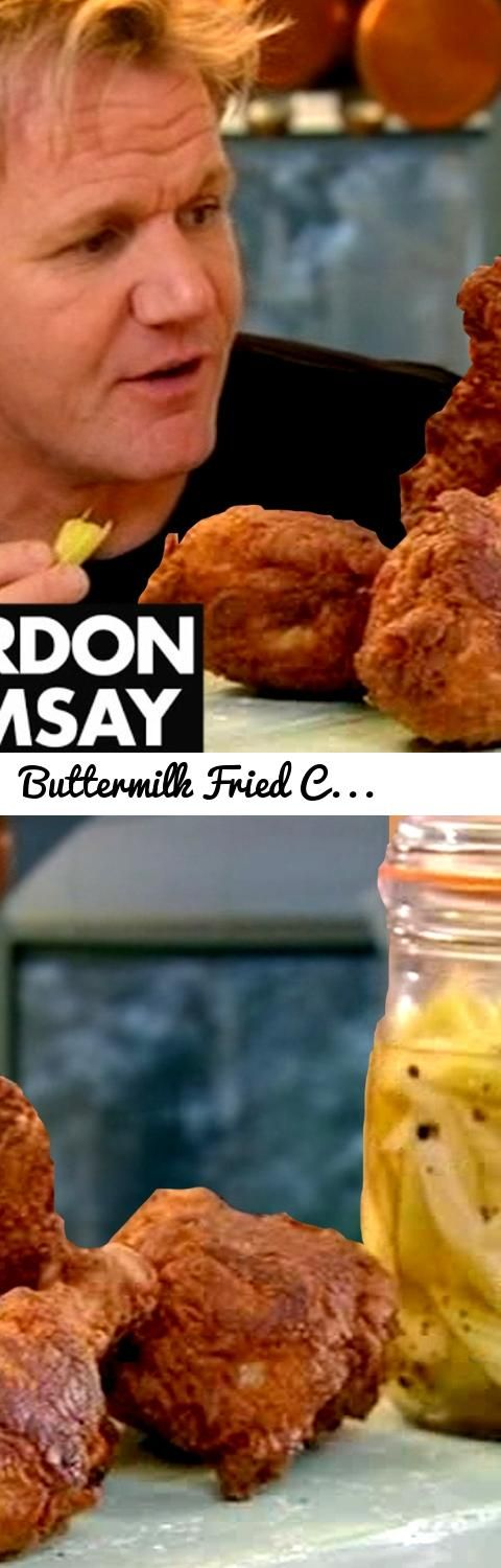 Buttermilk Fried Chicken with Sweet Pickled Celery   Gordon Ramsay... Tags: Gordon, Gordon Ramsay, Ramsay, Ramsey, Chef Ramsay, Recipe, Recipes, Food, Cooking, Cookery, gordon ramsay best insults, gordon ramsay it's raw, gordon ramsay steak, gordon ramsay idiot sandwich, gordon ramsay scrambled eggs, gordon ramsay ultimate home cooking, gordon ramsay ultimate home cooking