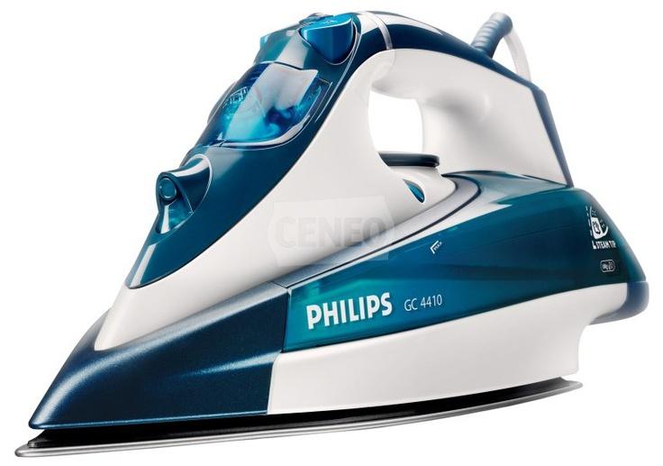 Philips GC 4410. Aby prasować łatwiej i szybciej, potrzeba doskonałego poślizgu i silnego strumienia pary. To żelazko ze stopą SteamGlide zapewnia jedno i drugie!