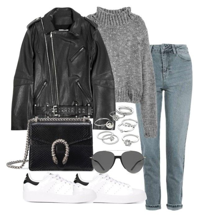 """Untitled #2640"" by theeuropeancloset on Polyvore featuring Topshop, Pierre Balmain, adidas Originals, Gucci, Smoke x Mirrors and Candie's"