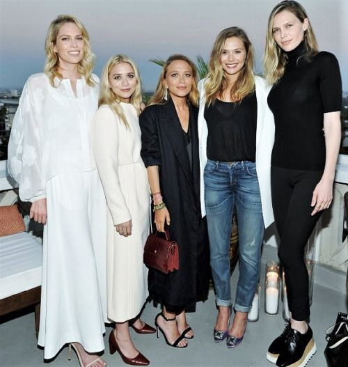 Erin Foster, Ashley, Mary-Kate, Elizabeth, and Sara Foster at InStyle's party for Elizabeth and James at the Chateau Marmont in LA, July 26 2016
