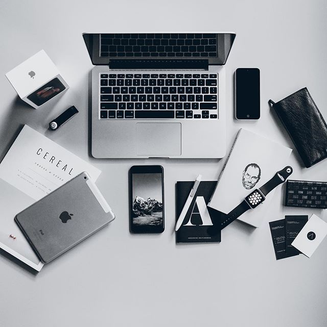 Image result for apple products flat lay