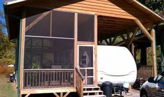 RV cover with  a screened #porch is a great idea! (uploaded image) #rvporch