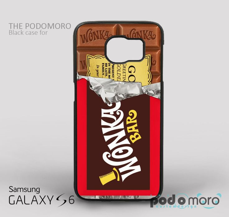 Wonka Bar Chocolate for iPhone 4/4S, iPhone 5/5S, iPhone 5c, iPhone 6, iPhone 6 Plus, iPod 4, iPod 5, Samsung Galaxy S3, Galaxy S4, Galaxy S5, Galaxy S6, Samsung Galaxy Note 3, Galaxy Note 4, Phone Case