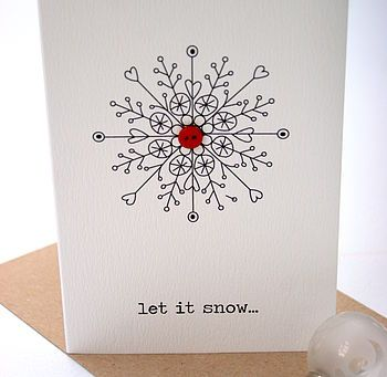 'Let It Snow..' Christmas Button Card - not to make - shall be buying my special cards from this range. All gorgeous