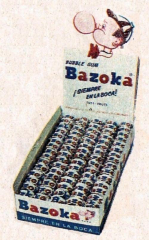 Que vuelvan los chicles Bazoka. Los mejores chicles aunque no los recomiende ningún dentista