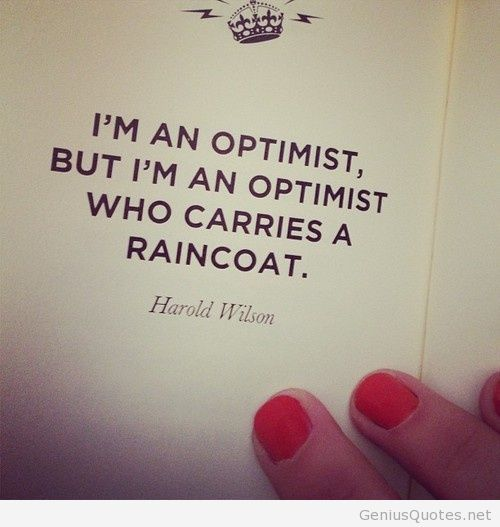 Harold Wilson optimist quote
