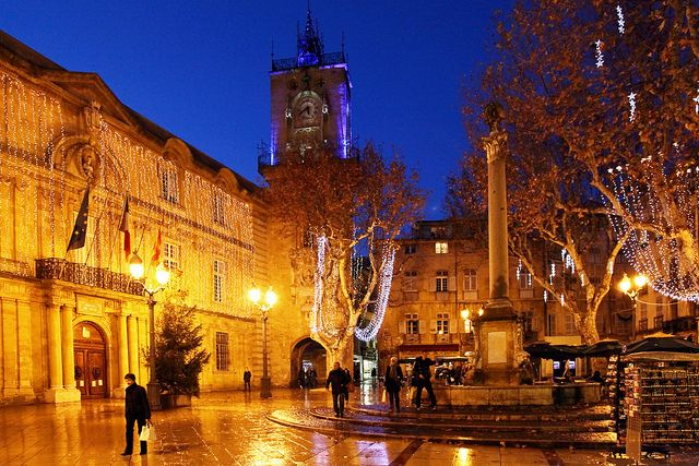 Place de la mairie, Aix-en-Provence by Boccalupo, via Flickr. so pretty at christmas.