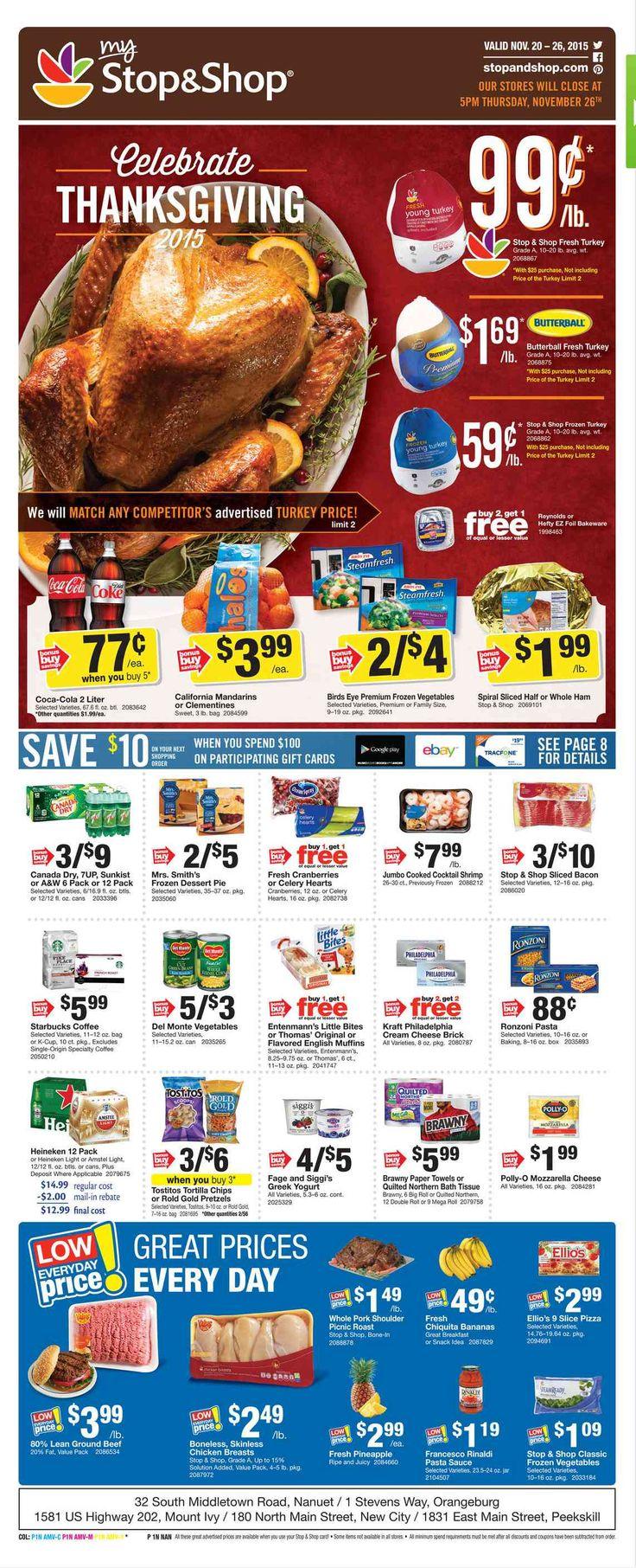 Stop and Shop Circular November 20 - 26, 2015 - http://www.olcatalog.com/grocery/stop-and-shop-circular.html