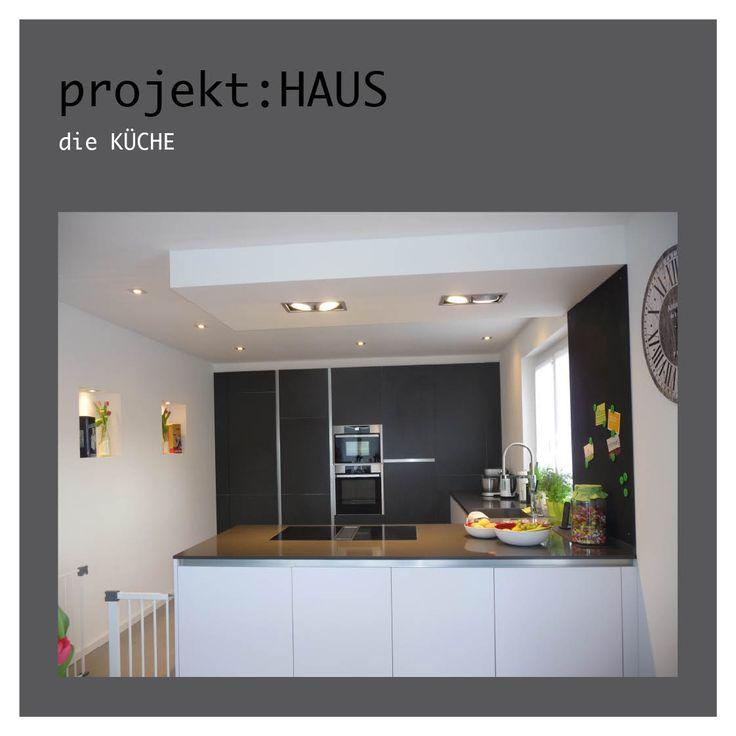 Küche, Modern, Schwarz, Weiß, Grau, Beton, Stein, Tafel