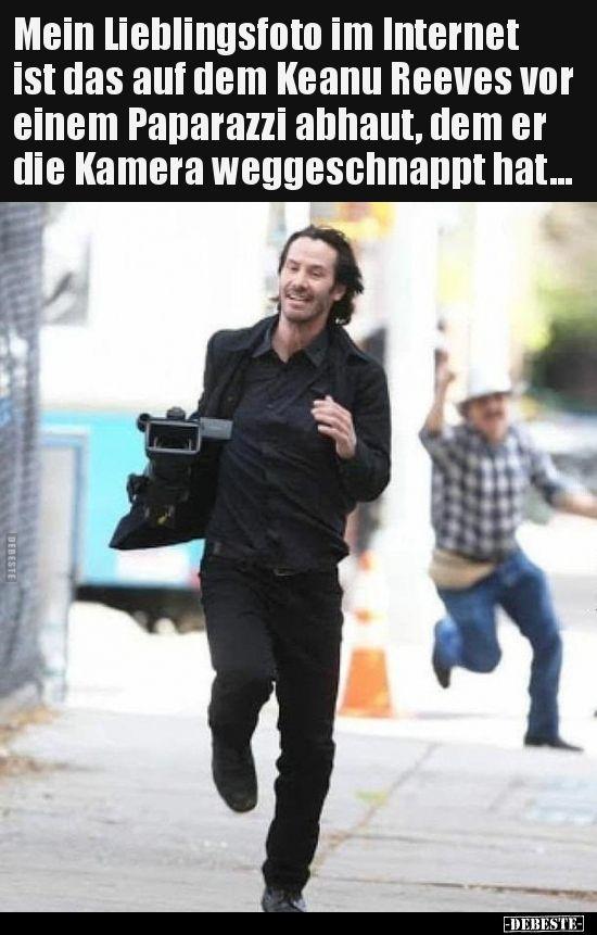 Mein Lieblingsfoto im Internet ist das auf dem Keanu Reeves..