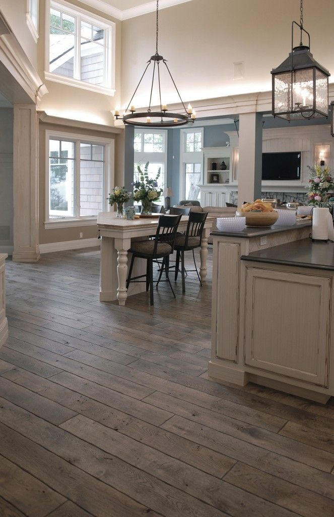 Signature Hardwoods: Species: Victorian™ Collection Vintage French Oak hardwood floor, hand scraped, hand carved beveled Tuscany™ Style, hand distressed