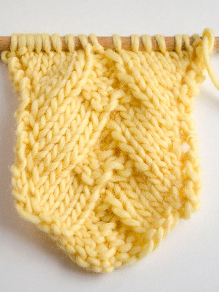 How to Knit German Herringbone Stitch