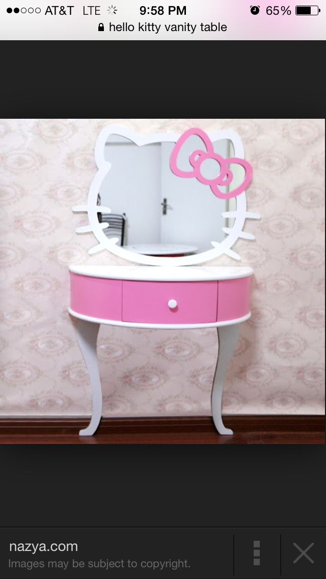Cute hello kitty vanity