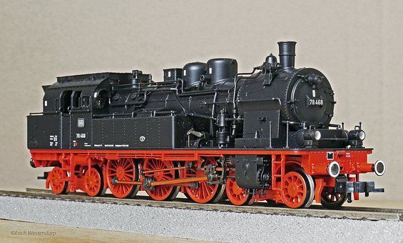 Gőzmozdony, Modell, H0, 1 87, Br78