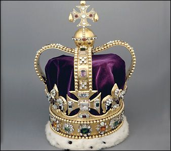 St. Edward's Crown was refurbished for Charles II's coronation from an old crown. The gold may have come from Edward the Confessor's crown. Great-Britain