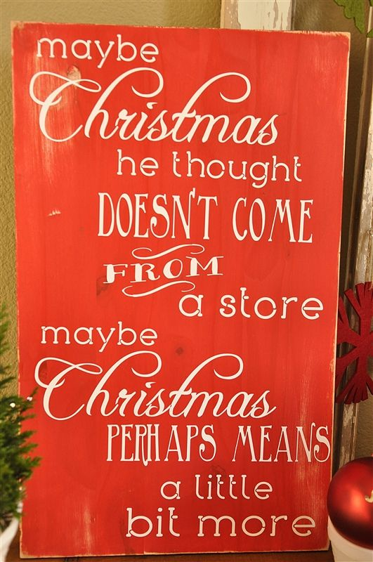 """Dr. Seuss Christmas Quote Subway Art Tutorial. Want one of these and a """"yes virginia, there is a santa claus"""" for decorating!"""