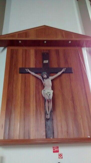 Jesus Cristo Crucificado/ Igreja Nossa Senhora de Fátima Vl Leopoldina/ São Paulo BR 08/2017