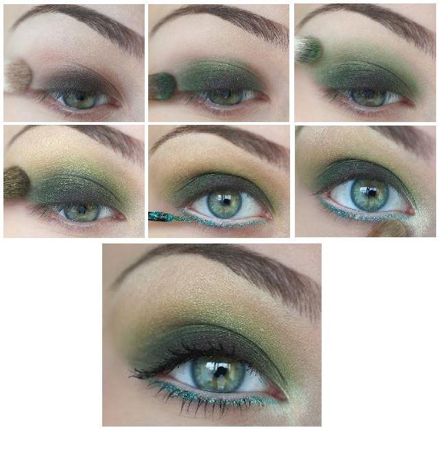 como maquillar ojos sombra verde ideas propuesta maquillaje belleza diy