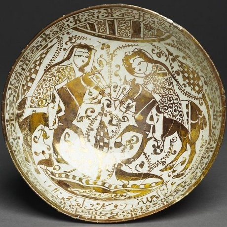 Seljuk Paired Horsemen on Ceramics, 12th to 13th centuries