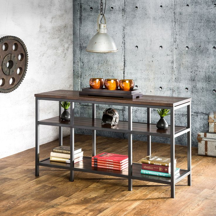 industrial looking furniture. charmingly designed with an industrial style in mind this sofa table is a great addition looking furniture f