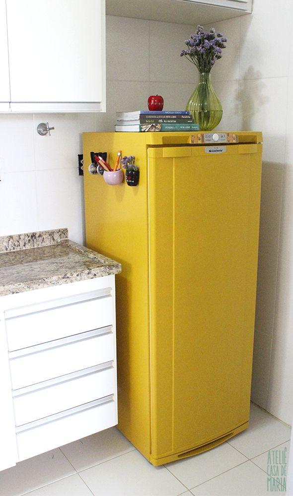 como pintar uma geladeira