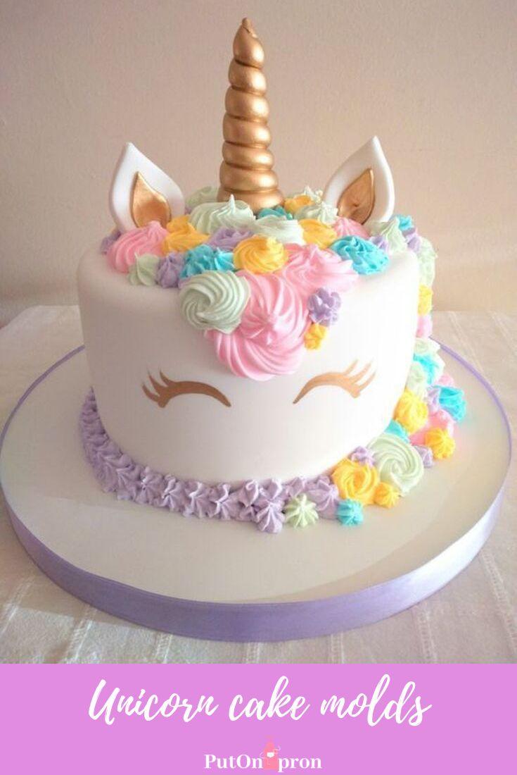 Einhornkuchen Ideen Einhorn Augen, Horn und Ohren Formen #unicorncakes #unicornpar …   – Baking
