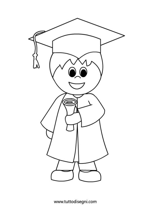 This is a picture of Vibrant Preschool Graduation Coloring Pages