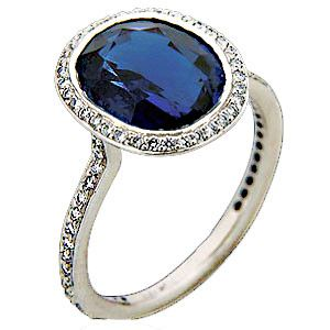 This stunning Oval Sapphire and Diamond Ring comes from ...